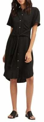 DKNY Button-Front High-Low Dress