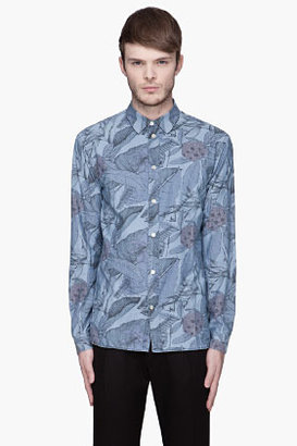 Paul Smith Blue multicolor printed Tailored-Fit Shirt