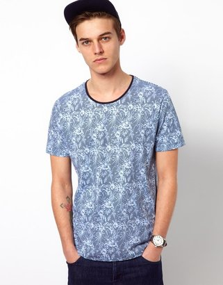Selected T-Shirt With Floral Print