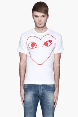Comme des Garcons White Red Logo T-Shirt
