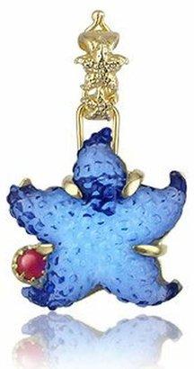 Tagliamonte Marina Collection - Blue Starfish Ruby & 18k Gold Pendant