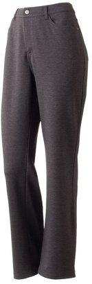Croft & barrow straight-leg ponte pants