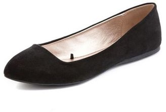 Charlotte Russe Sueded Pointy Toe Ballet Flat