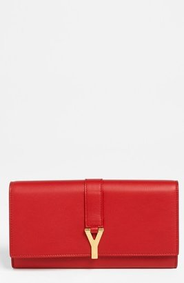 Saint Laurent 'Y Flap - Large' Leather Wallet