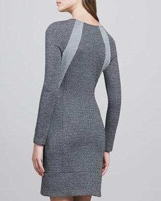Theory Chayenne Two-Tone Front-Zip Dress