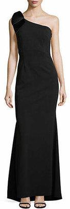 Eliza J Bow One-Shoulder Gown