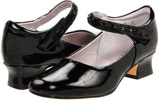 Jumping Jacks Juliette (Toddler/Youth) (Black Shiny) - Footwear