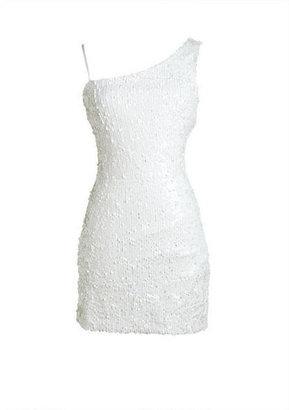 Delia's White Sequin One Shoulder