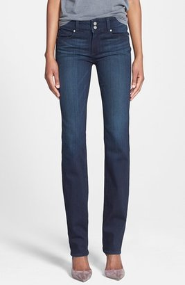 Women's Paige Denim 'Transcend - Hidden Hills' High Rise Straight Leg Jeans $179 thestylecure.com