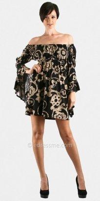 Voom Black Cherrywood Off Shoulder Dresses