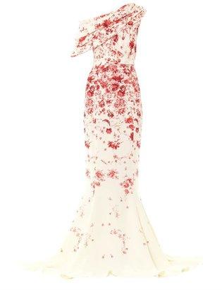 Giambattista Valli Couture Silk cady one-shoulder gown