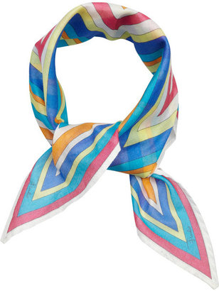 Emilio Pucci Star-shaped printed cotton scarf
