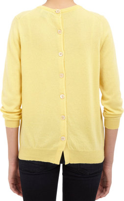 Barneys New York Button-back Sweater