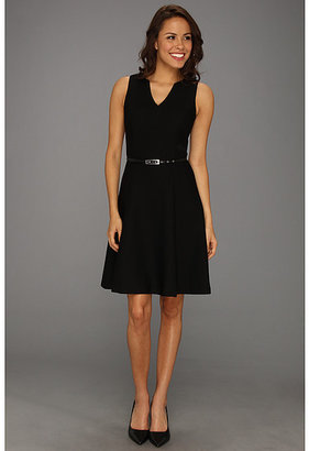 Muse Stretch Novelty Stripe Flare Dress