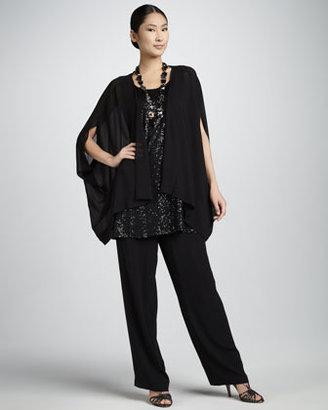 Eileen Fisher Silk Georgette Jacket, Women's