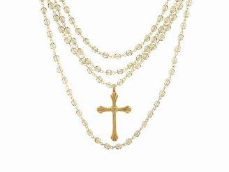 Virgins Saints And Angels Virgins, Saints & Angels Magdalena Grande Etched Cross in Gold | Black Diamond