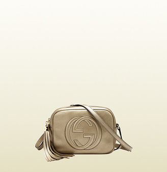 Gucci Soho Metallic Leather Disco Bag