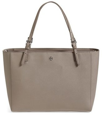 Tory Burch 'York' Buckle Tote - Grey $295 thestylecure.com