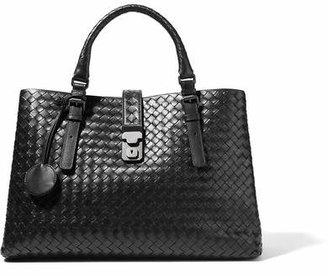 Bottega Veneta - Roma Large Intrecciato Leather Tote - Black $3,750 thestylecure.com