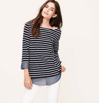LOFT Two-In-One Softened Shirt