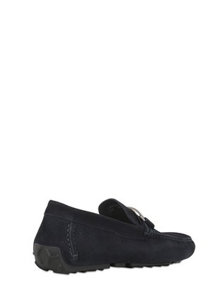 Bally 'droteo' Perforated Suede Driving Shoes