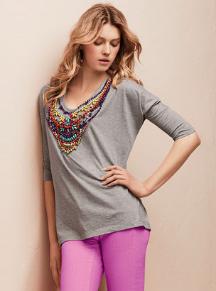 Victoria's Secret Beaded Dolman-sleeve Tunic