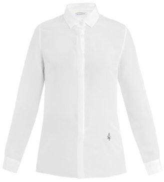 J.W.Anderson Embroidered logo silk shirt
