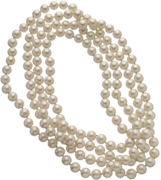 Carolee White Pearl Rope Necklace