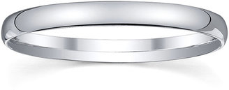 MODERN BRIDE Womens 2mm Silver Domed Wedding Band Ring