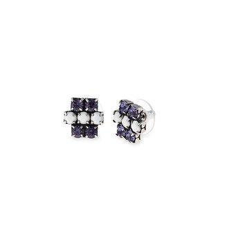 Alex and Ani Grape Sparkler Earrings