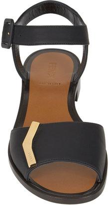 Fendi Demetra Ankle-Strap Flat Sandals