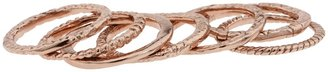 Gorjana Stackable Rings (Set of 7) (Gold) - Jewelry