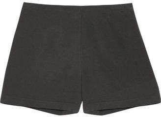 Equipment Lewis washed-silk shorts