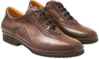Pakerson Cocoa Italian Hand Made Leather Lace-up Shoes