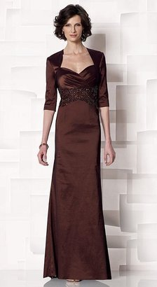 Cameron Blake by Mon Cheri - 213632 Long Dress In Cocoa $388 thestylecure.com
