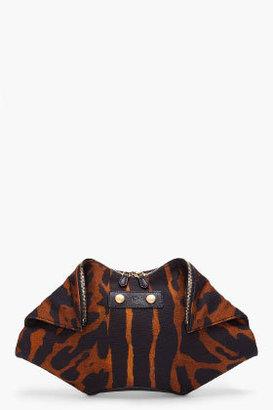Alexander McQueen Leopard Print Manta Clutch