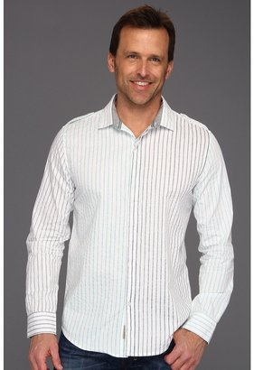 Calvin Klein Jeans Seismic Stripe L/S Shirt (White) - Apparel