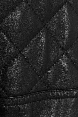 DKNY Felt and leather biker jacket