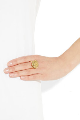 Ileana Makri Gem 18-karat gold diamond ring