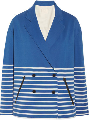 Band Of Outsiders Striped cotton-jersey jacket