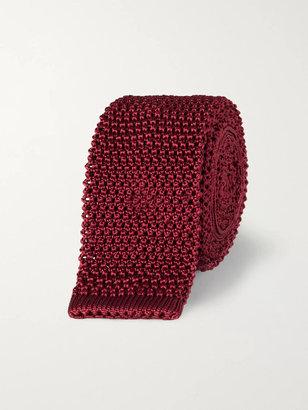 Charvet 5cm Knitted Silk Tie - Men - Burgundy