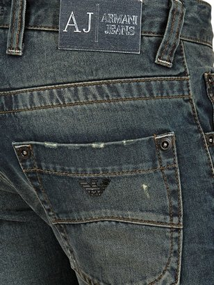 Armani Jeans 19,5cm Low Waist Denim Slim Leg Jeans