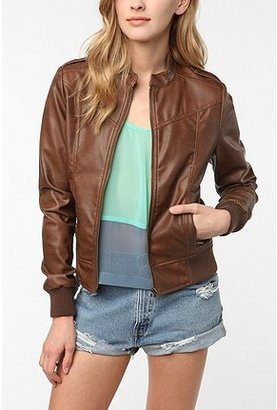 BB Dakota Faux Leather Bomber Jacket