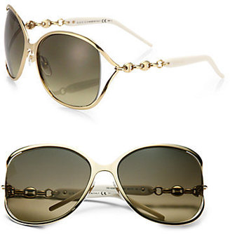Gucci Oversized Round Metal Sunglasses