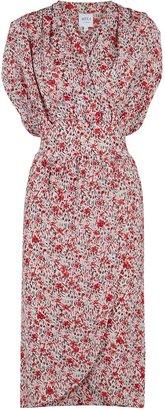 MISA Pia Floral-print Chiffon Dress