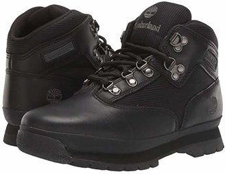 Timberland Kids Euro Hiker (Big Kid) (Black Smooth/Black) Boys Shoes