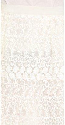 Giambattista Valli Lace Skirt