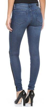 Blank Patchwork Skinny Jeans
