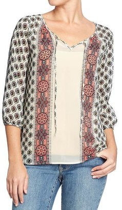 Old Navy Women's Chiffon Peasant Blouses