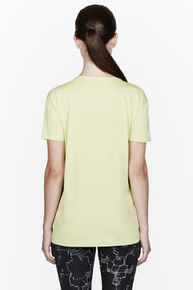 Maison Martin Margiela Chartreuse yellow Opening Hours T-shirt
